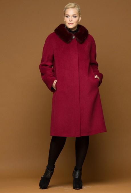 Драповое зимнее пальто