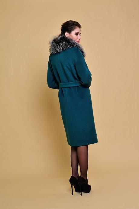 115398139bc Купить Зимнее пальто с меховым воротником №625 по низкой цене в Москве