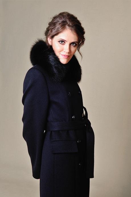 c4ccee205a3 Купить Пальто макси с меховым воротником №601 по низкой цене в Москве по низкой  цене в Москве